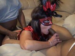 Amateur  Blowjob Interracial  Threesome Wife