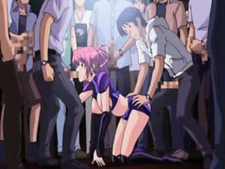 Beauty Japanese anime gangbang in the public function