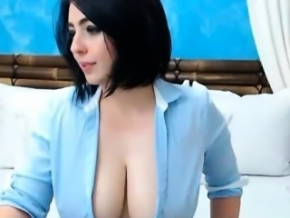Hot British Webcam Girl Has Huge Tits