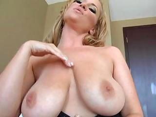 Amazing Big Tits Blonde  Natural Nipples Pornstar