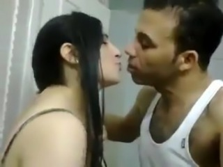 Amateur Arab Homemade Kissing Wife