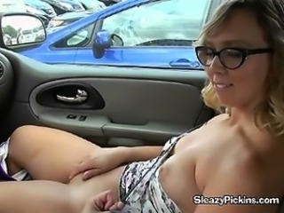 Roasting Nerd Girl Plays With Her Pussy In Public