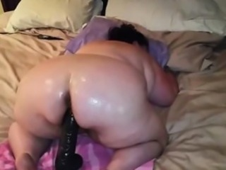 Amateur Ass  Dildo Homemade  Oiled Toy
