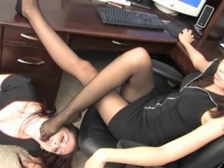 Miss Tiffany office foot slave