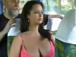 Big Tits Brunette Bus  Public Voyeur