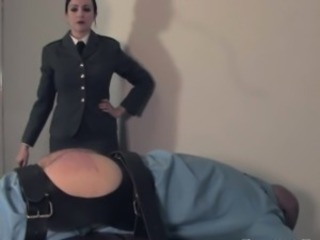 Uniformed english dominatrix canes useless watch b substitute