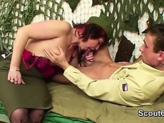 German persuasiveness uniform Milf get fucked by young boy