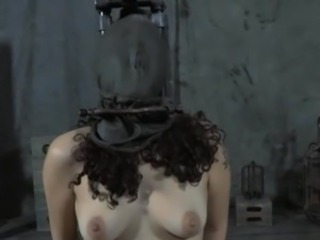 Caged fro girl has pleasuring