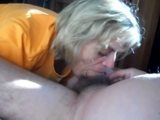 Amateur Blonde Blowjob Clothed Homemade Mature Older Wife
