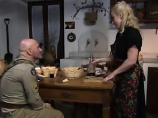 Kirmess housewife gets her pussy eaten by a soldier