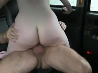 Perky tits bush-league blonde passenger stuffed fro the taxi