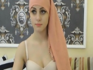 My Beautiful Muslim Neighbor Strokes her Toy