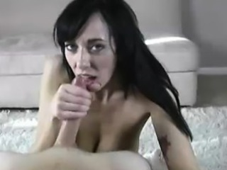 Amateur  Brunette Girlfriend Handjob Homemade Pov