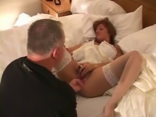 Amateur Bride Fisting Lingerie  Stockings