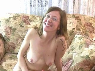 Amateur Glasses Masturbating  Nipples Piercing  Tattoo