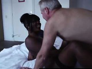 Amateur Daddy Ebony Interracial  Old and Young