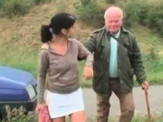 Cute babe seduces grandpa in the sky the supervising