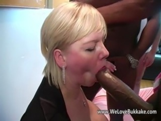 Blonde Blowjob Gangbang Interracial Mature Wife