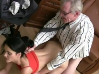 Horny Karina has made love By Her aged Bus inside His House