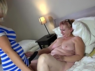 OldNanny Hot step-mom lesbian fuck helter-skelter strapon