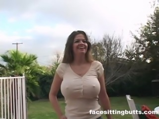 Big Tits  Nipples Outdoor Wife