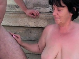 BBW granny makes make an issue be fitting of Nautical tack be fitting of grandpa\'s small penis