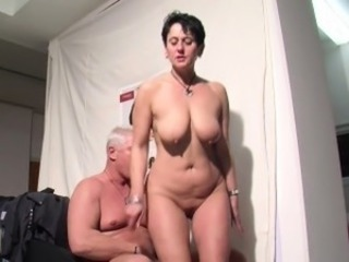 German Mommy get fucked at work for more Money