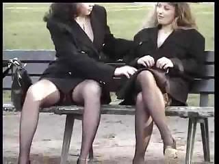 Outdoor Public Secretary Stockings Upskirt Voyeur