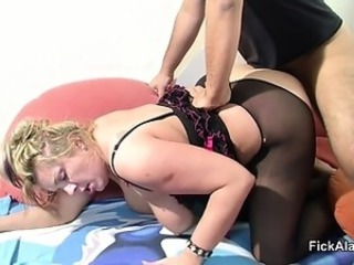 Blonde Chubby Doggystyle European German Hardcore Mature Pantyhose