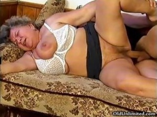 Horny grandma loves sucking some young part3