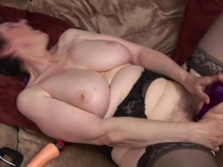 Amateur Big Tits Masturbating Mature Mom Natural Orgasm Stockings Toy
