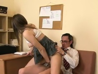 Chick is teacher\'s cock with zealous oral sex