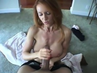 Big cock for Trisha to jerk off until it cums