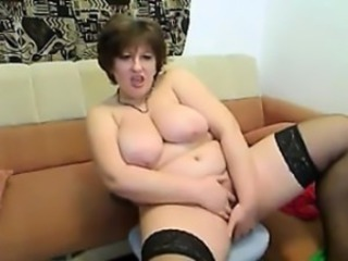 Fat Mature Unfocused Does A Striptease