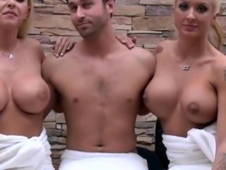 Amazing Big Tits  Silicone Tits Threesome