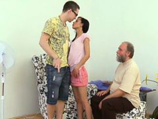 Lustful old lad explores young juicy body of a pretty h...