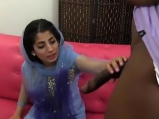 Paki-Indian muslim Girl fucked with 10 inches raven cock