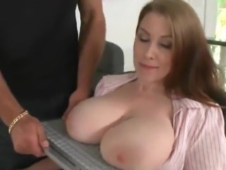In flames head Milf on all sides over oustanding real titties bumped Within reach A Office
