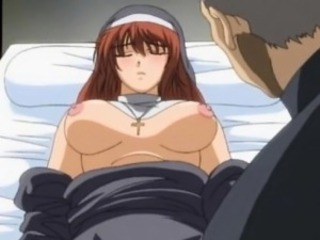 Hentai nun fucking a saleable priest and cumming