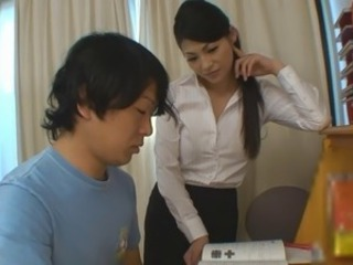 Amazing Asian Brunette Cute  Teacher