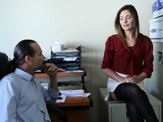 Amazing Anal  Office Secretary Skirt Stockings