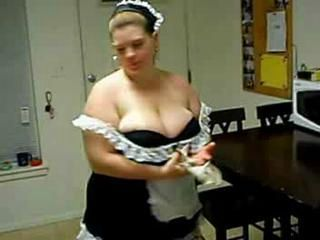 Amateur  Big Tits Homemade Maid  Uniform