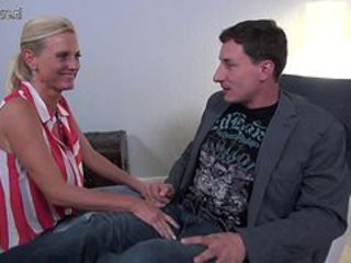 Well-endowed hot German mom Dirty Tina fucking a boy