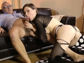 Slut fucked old vs young
