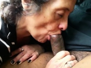 Amateur Grandma Sucks Stay away from a Black Stranger