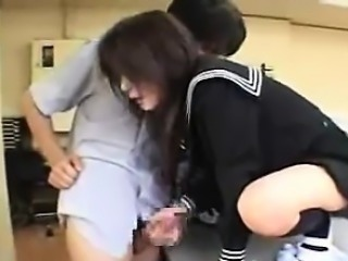 Handjob By A Sweet Japanese Schoolgirl