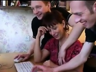 Mature Russian Fro A Foursome With Young Guys