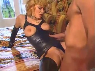 Amazing Blonde Clothed Fetish Latex  Pornstar