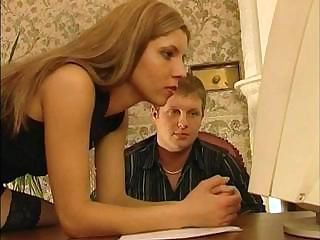 Skinny blonde working that concisely ass with respect to get that cock working