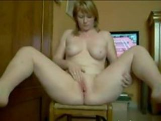 Blonde Masturbating  Webcam Wife
